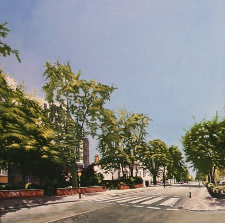 Peter Rocklin Abbey Road Revisited (panel 1) triptych Oil on panel 105 x 105 cm