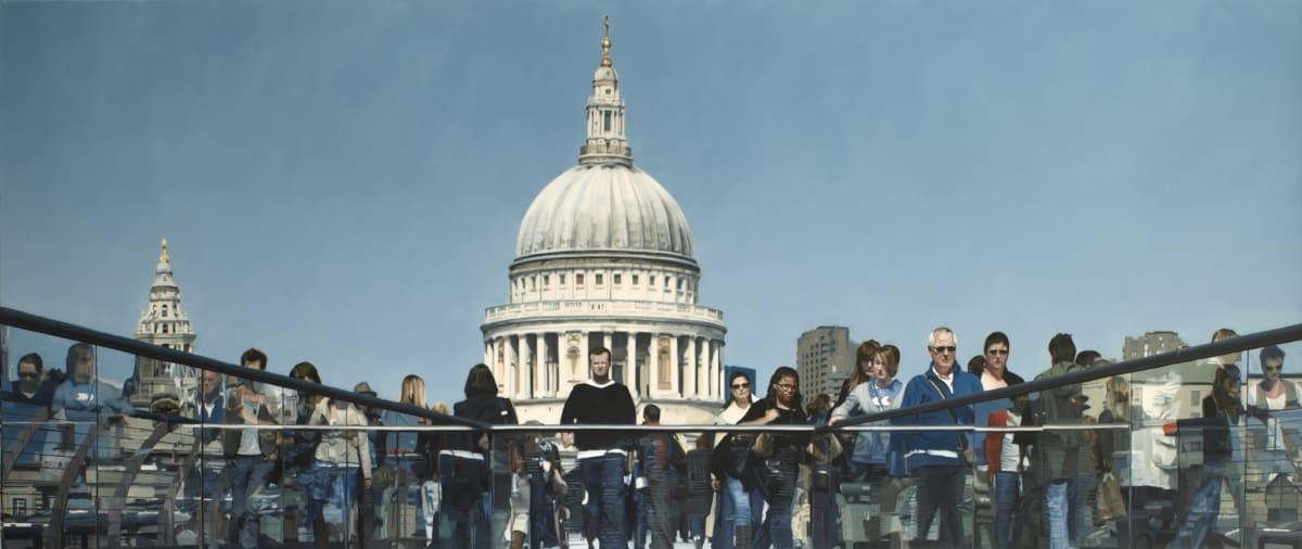 Francisco Rangel Crossing the Millennium oil on canvas 62 x 146 cm