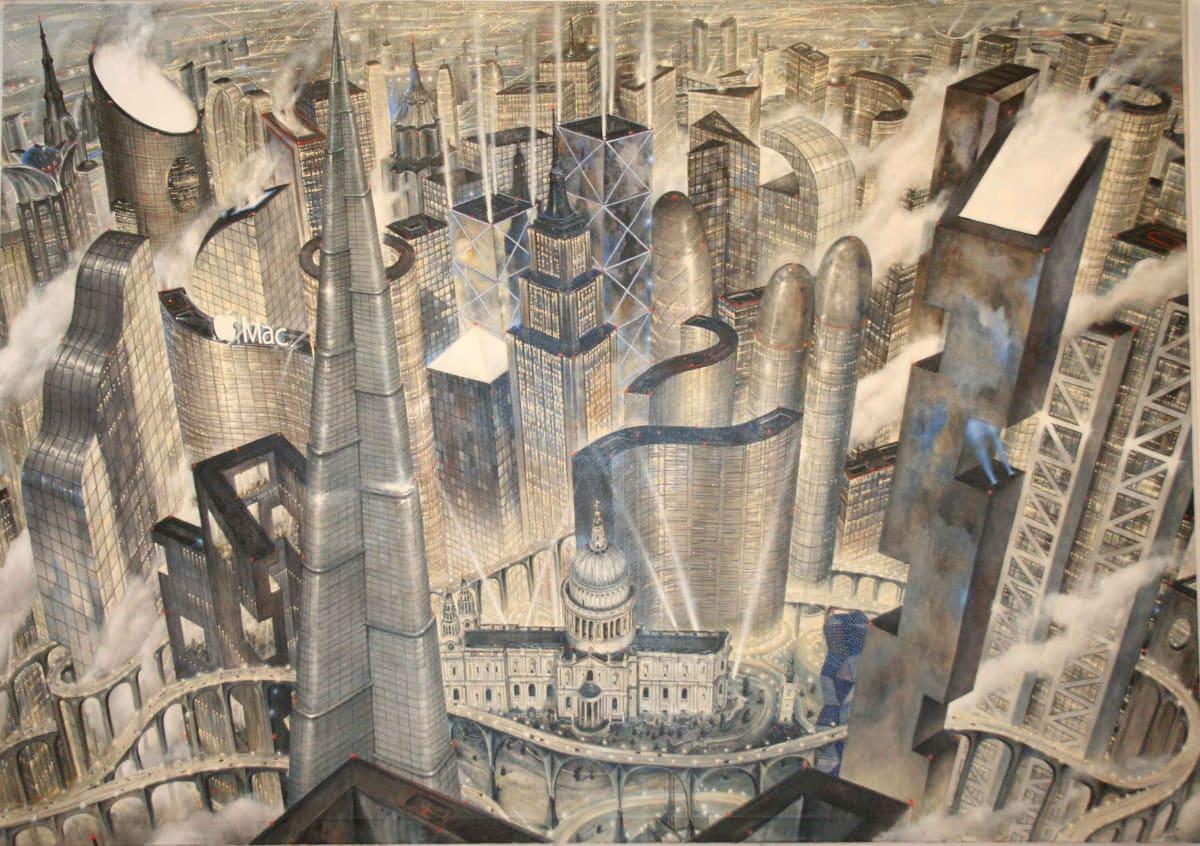 Ricardo Cinalli Defying God oil on canvas 206 x 291 cm