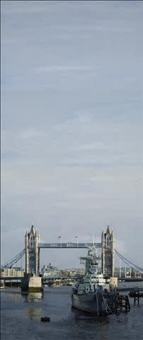 Francisco Rangel Tower Bridge oil on canvas 195 x 83 cm