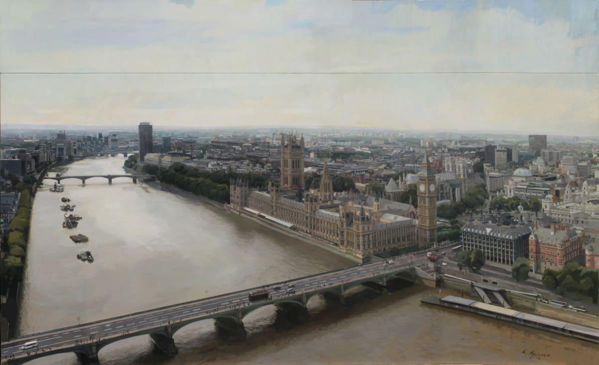 Kike Meana London at Twelve Oil on canvas on board 160 x 250 cm