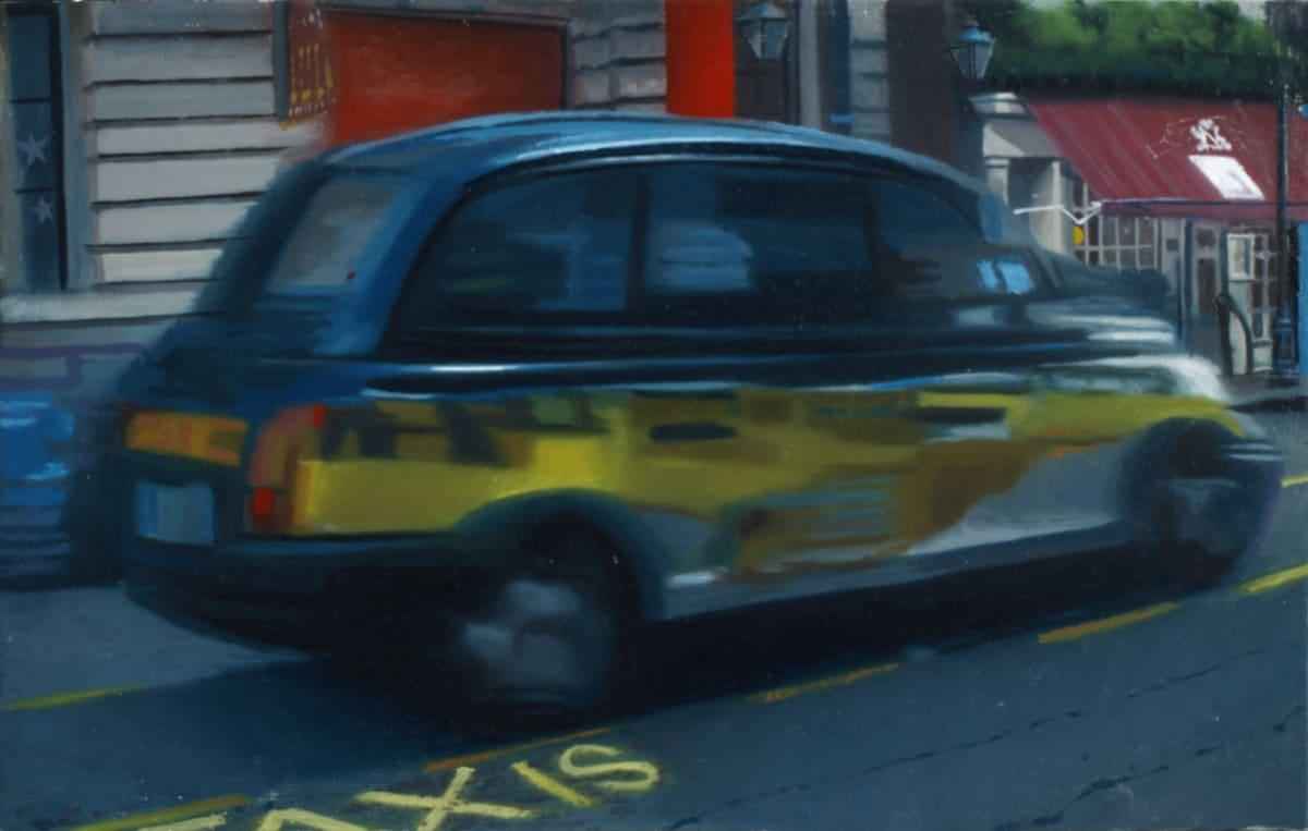 Francisco Rangel Taxis oil on canvas 14 x 22 cm