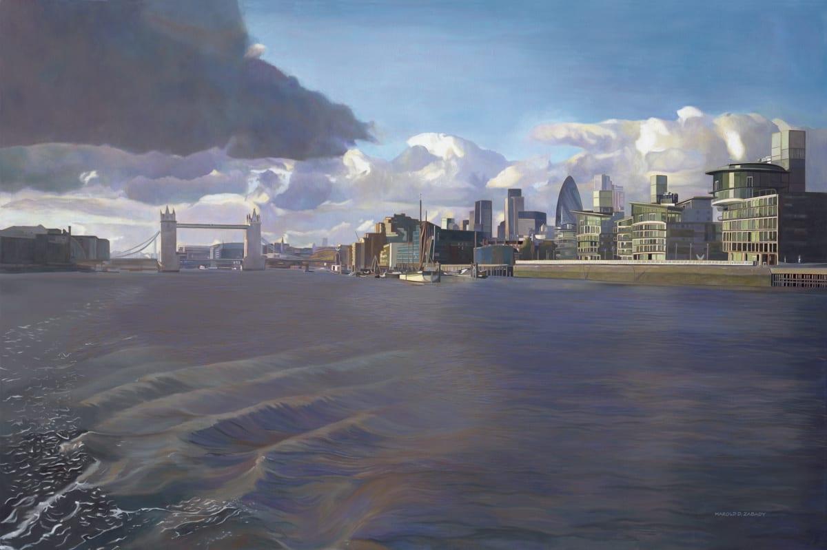 Harold Zabady The River oil on linen 101.5 x 152.5 cm