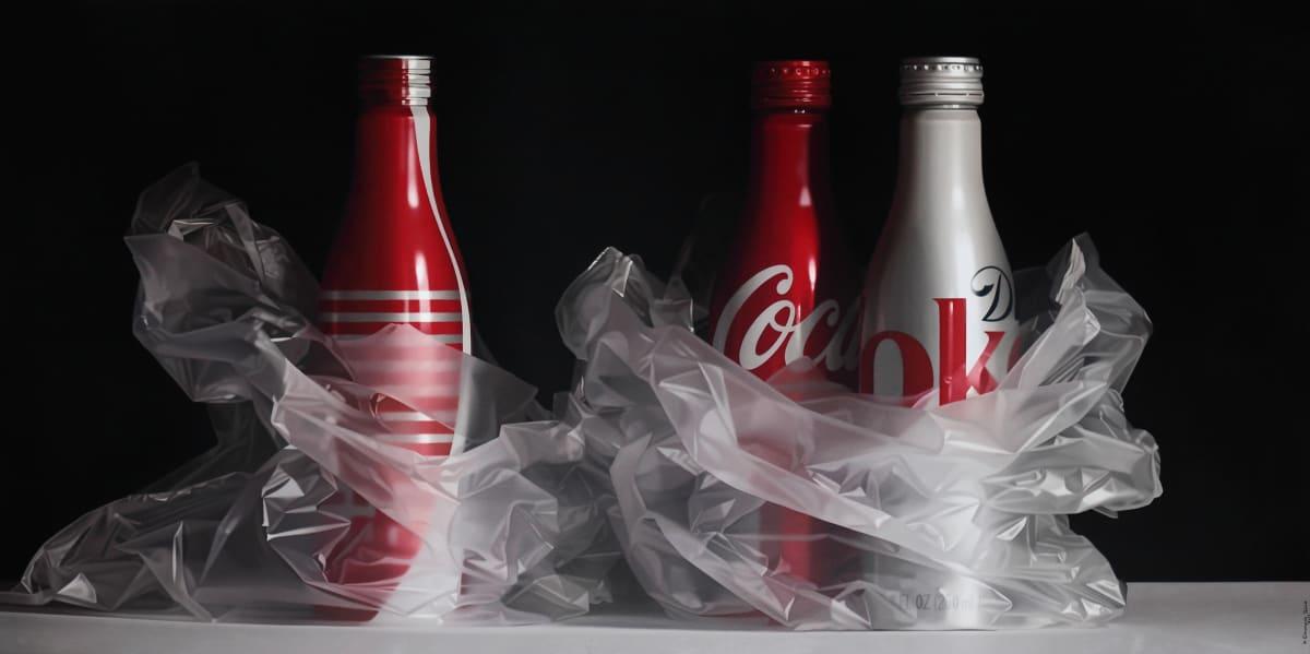 Pedro Campos Coke Trilogy oil on canvas 97 x 195 cm
