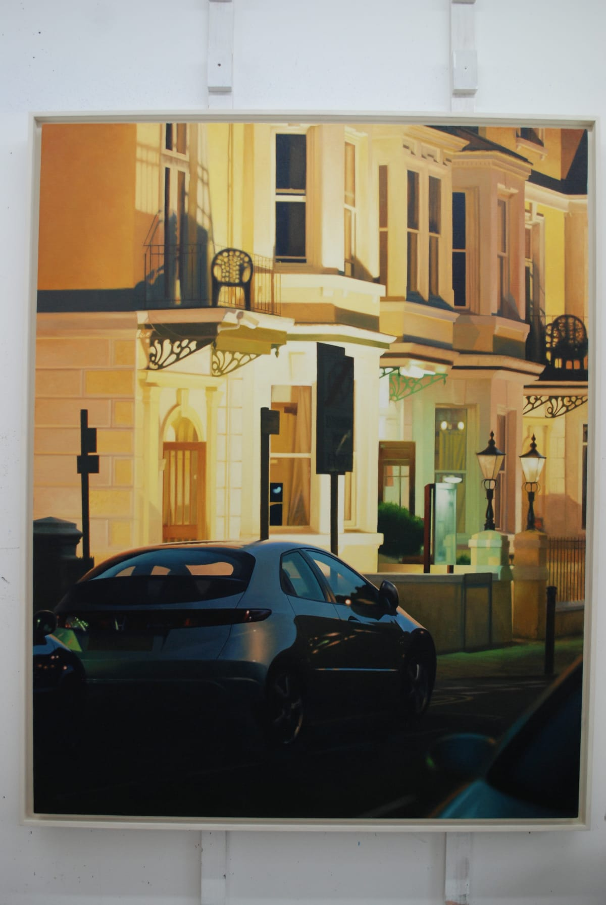 Mike Briscoe Seafront Hotels oil on linen 97 x 147 cm