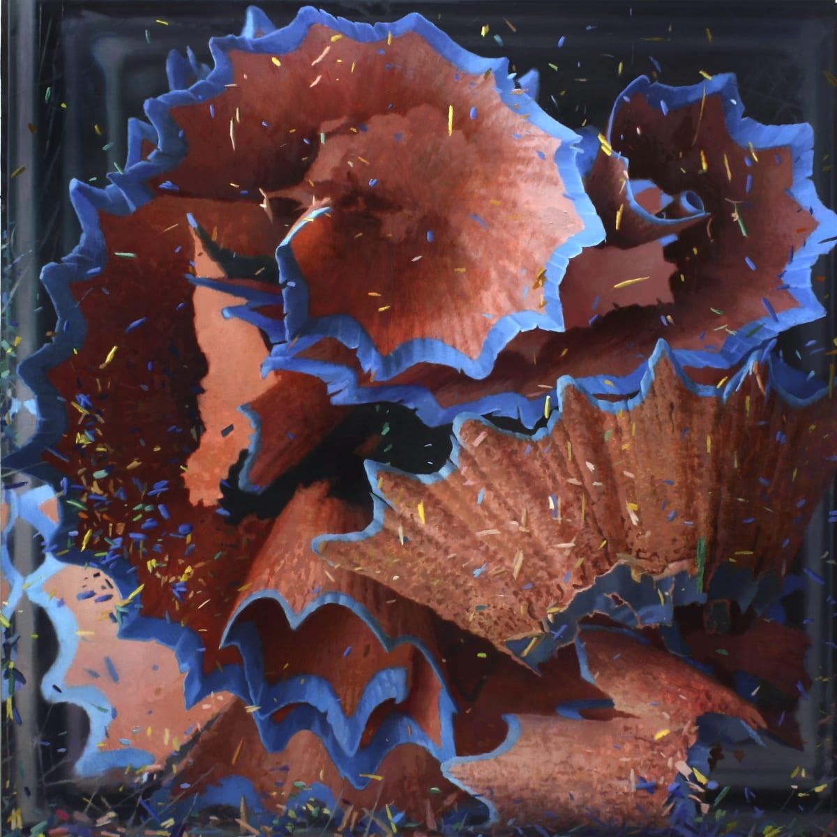 Javier Banegas Shavings I Oil on panel 80 x 80 cm