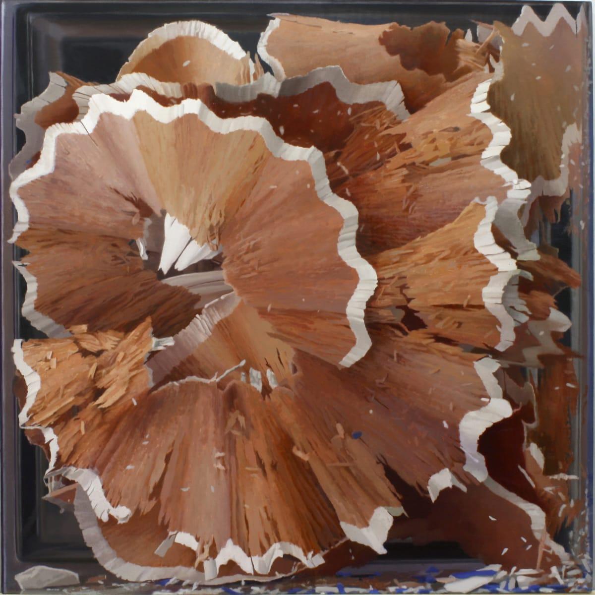 Javier Banegas Shavings II Oil on panel 80 x 80 cm