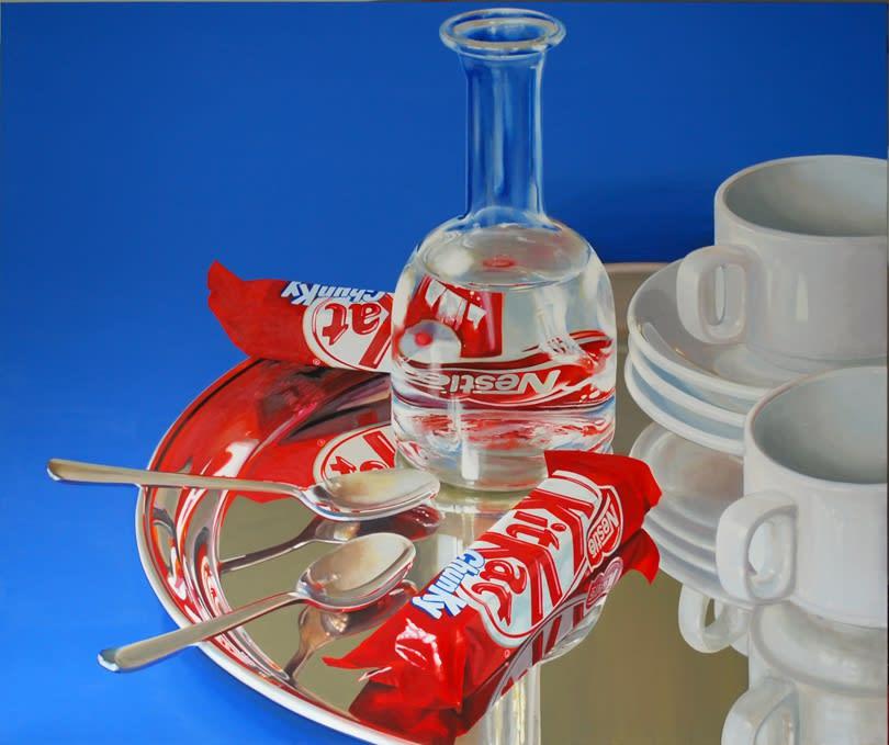 Cynthia Poole KitKat Chunky XIV 91 x 75 cm Acrylic on linen