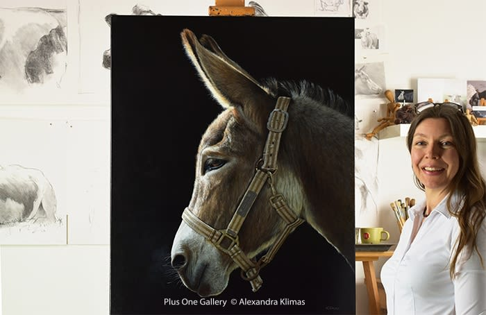 The Story Behind the Painting II: Alexandra Klimas, Hope the Donkey