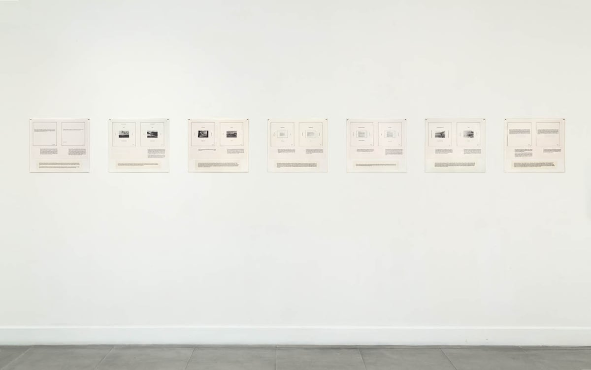 Installation view of Some Dimensions of My Lunch: Marie Yates at Richard Saltoun Gallery