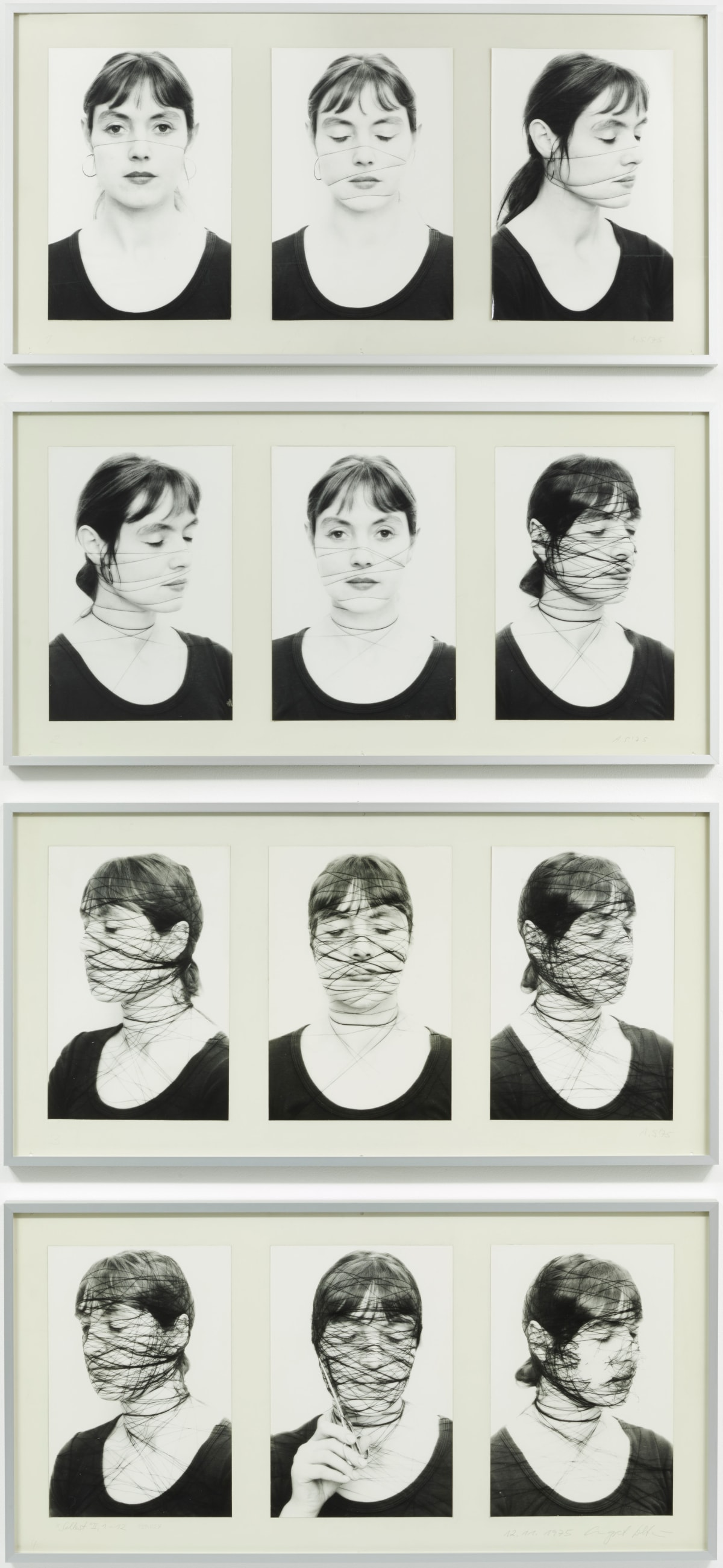 Annegret SOLTAU Selbst II, 1-12 (Self II, 1-12), 1975 12 black and white photographs on baryta paper mounted on cardboard Each: 51.5 x 101.5 cm