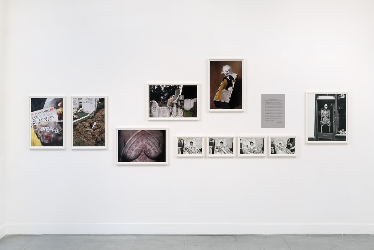 Installation view at Richard Saltoun Gallery: Jo Spence: The Final Project (11 February - 25 March 2016)