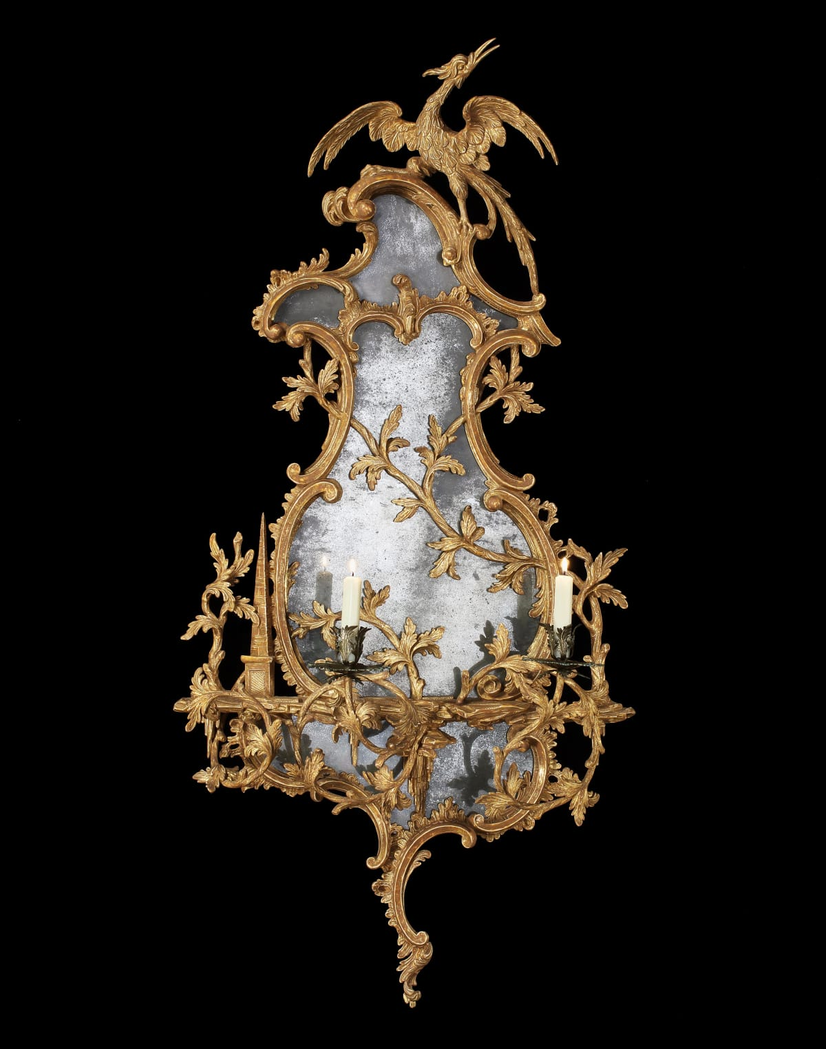 A GEORGE III GILTWOOD GIRANDOLE. ATTRIBUTED TO THOMAS JOHNSON, english, circa 1765