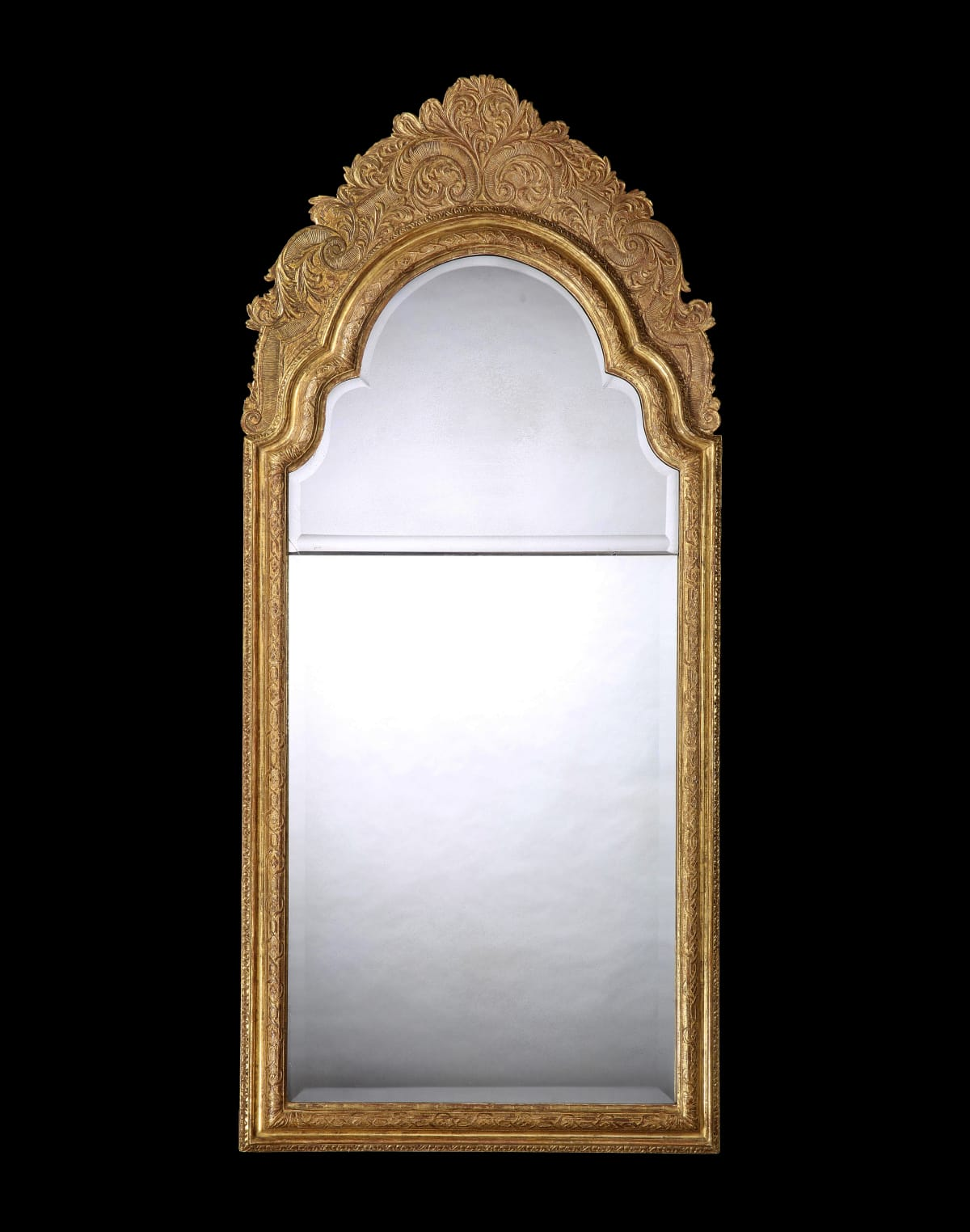 A QUEEN ANNE GILTWOOD PIER MIRROR, ENGLISH, CIRCA 1715