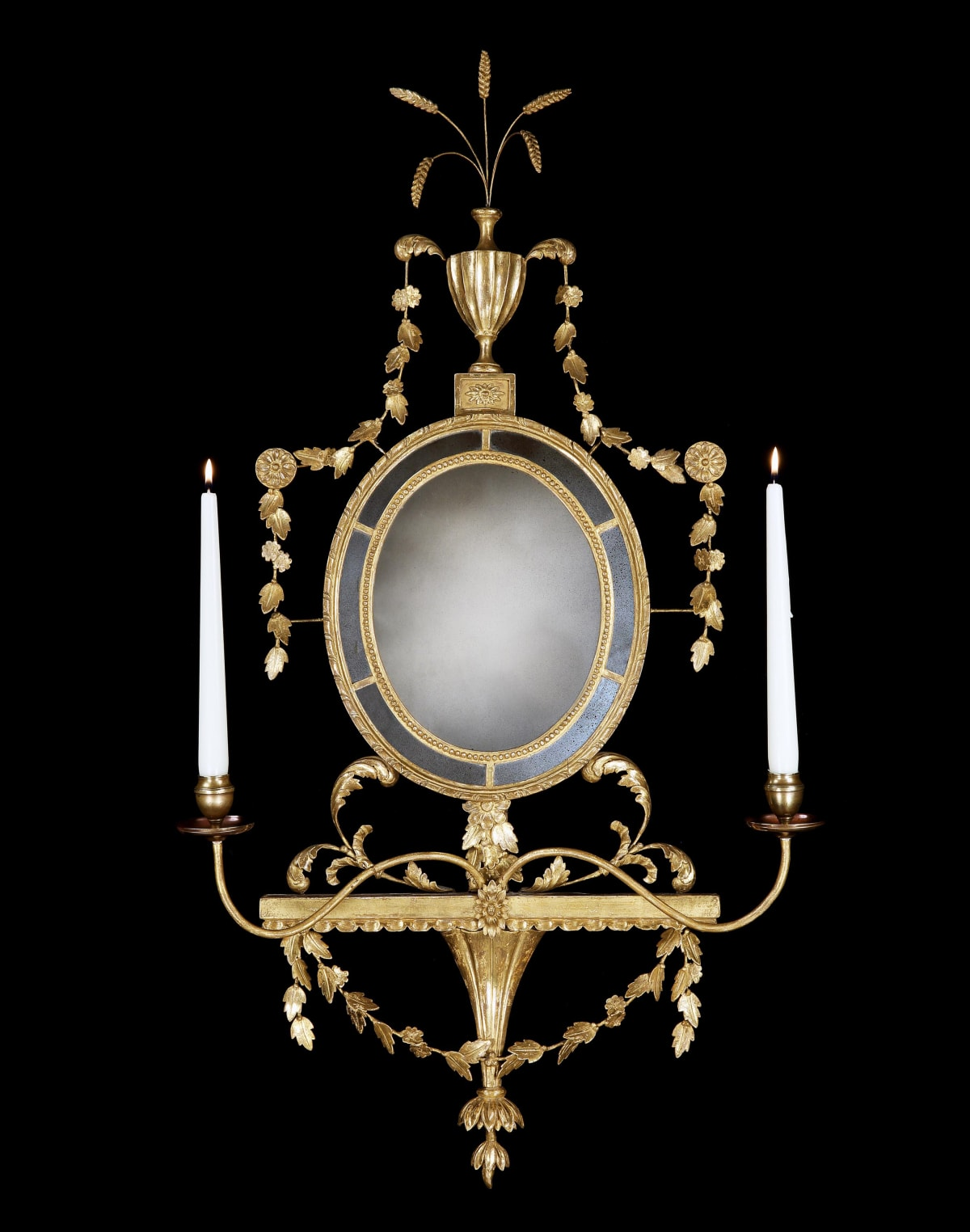 A GEORGE III GILTWOOD GIRANDOLE, ENGLISH, CIRCA1780