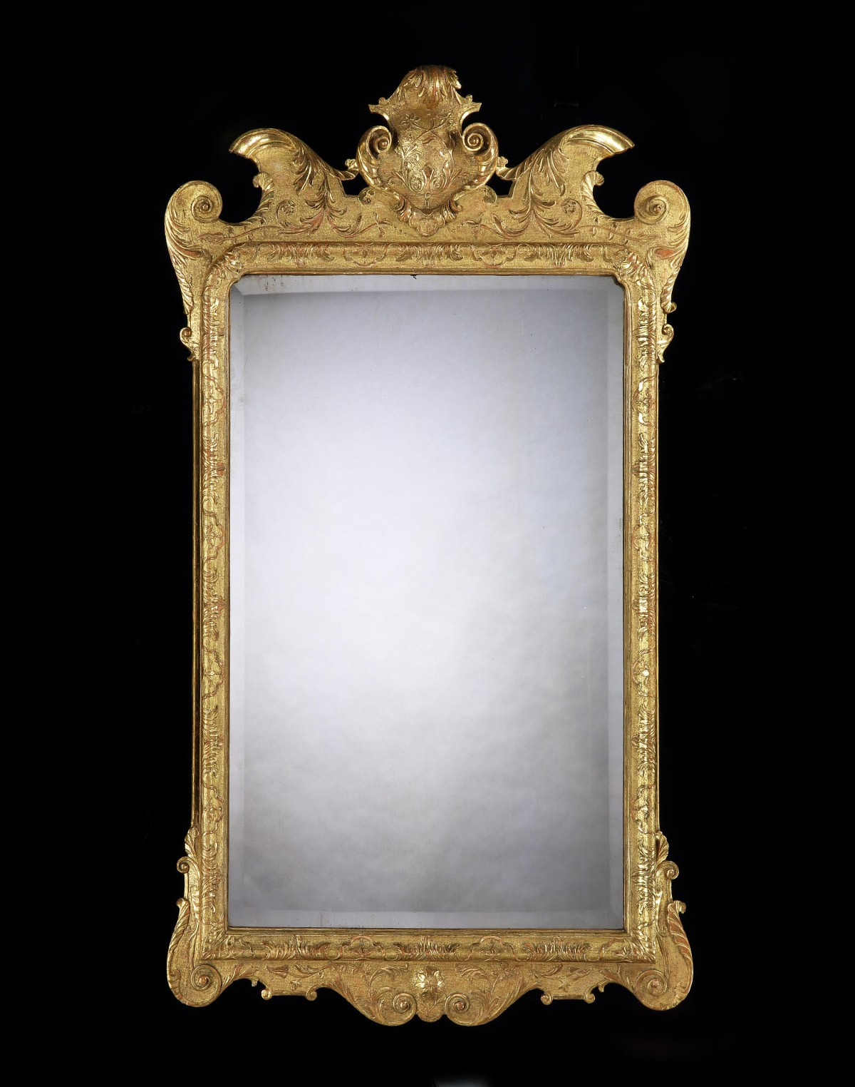 A GEORGE I GILTWOOD GESSO MIRROR, ENGLISH, CIRCA 1725