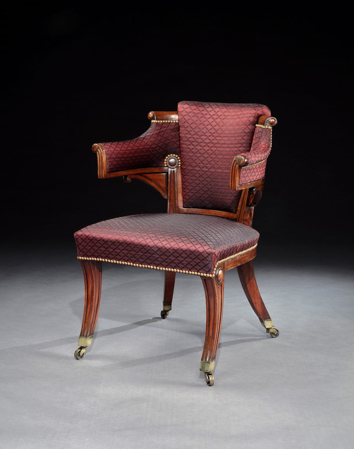 A GEORGE III REGENCY ARMCHAIR, ENGLISH, CIRCA 1815