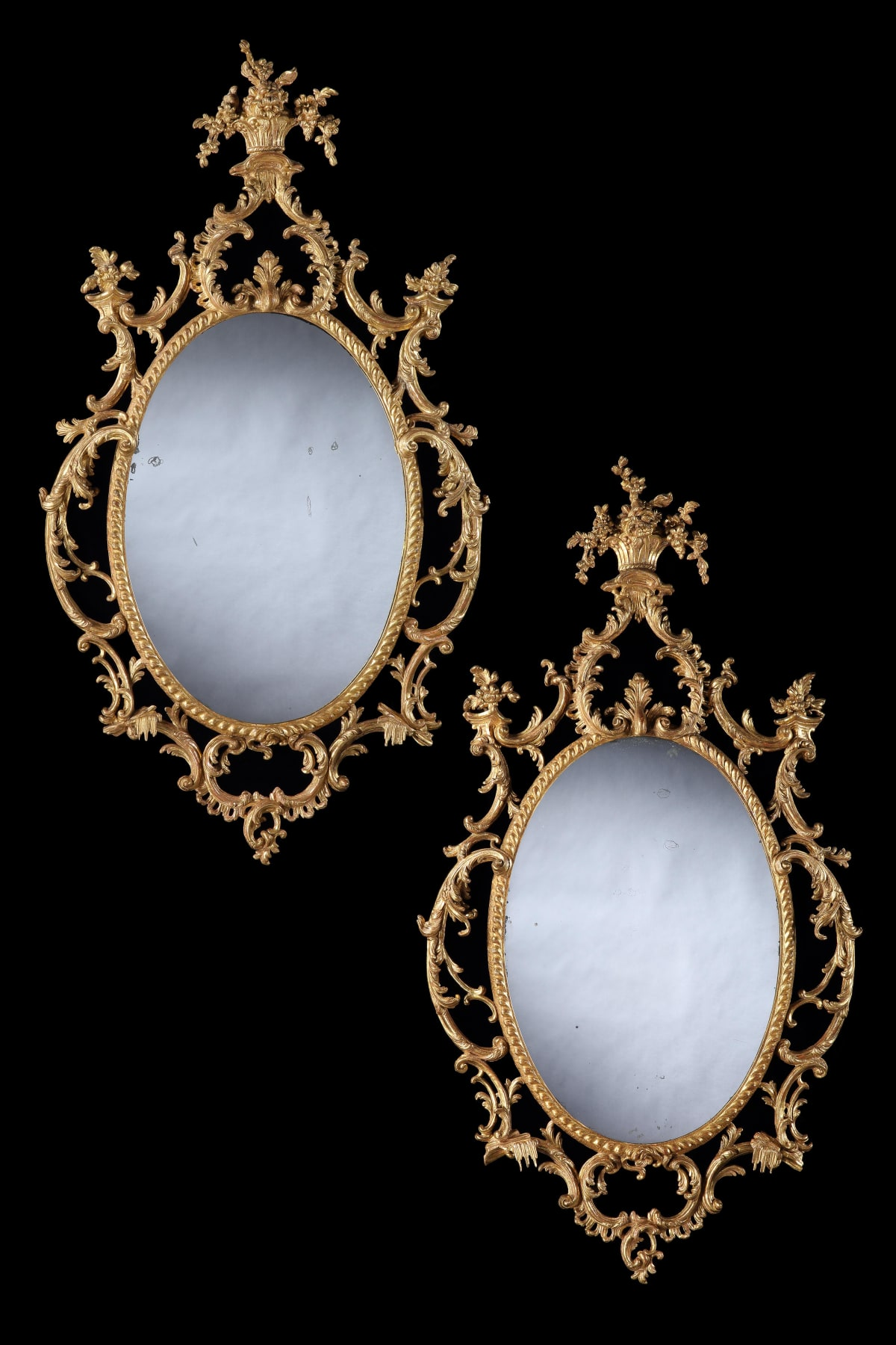 THE STOKE PLACE MIRRORS, ENGLISH, CIRCA 1765