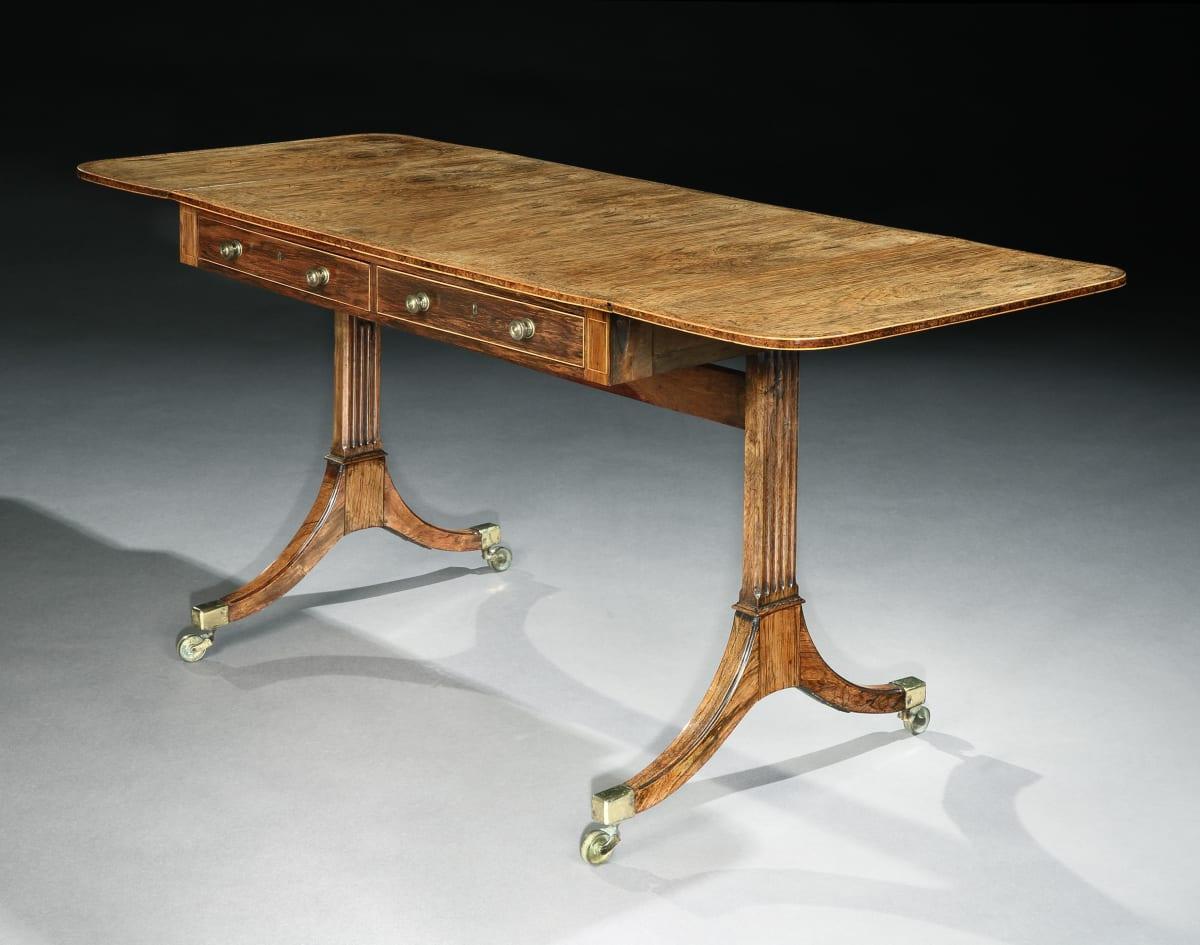 A GEORGE III ROSEWOOD SOFA TABLE, ENGLISH, CIRCA 1790