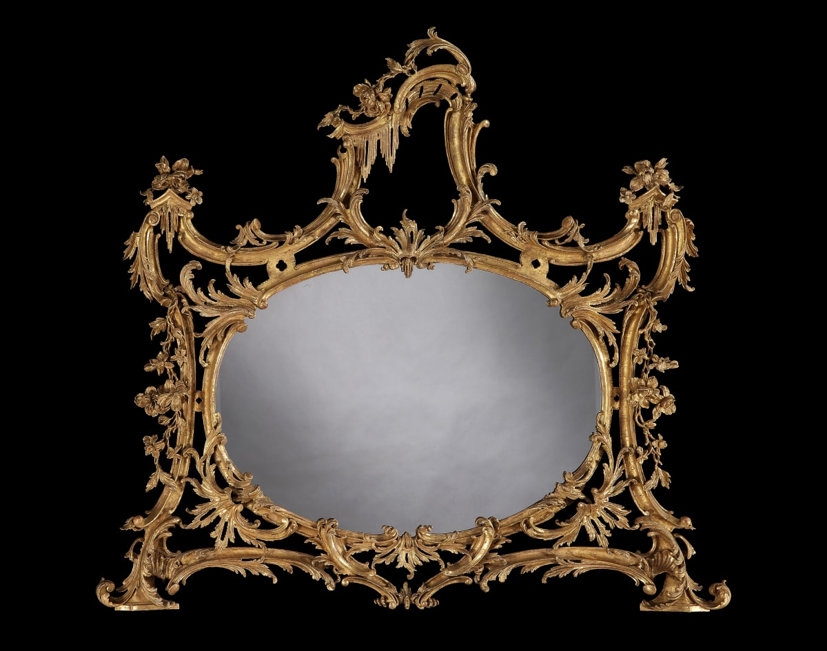 GEORGE III GILTWOOD OVERMANTLE MIRROR, ENGLISH, CIRCA 1765