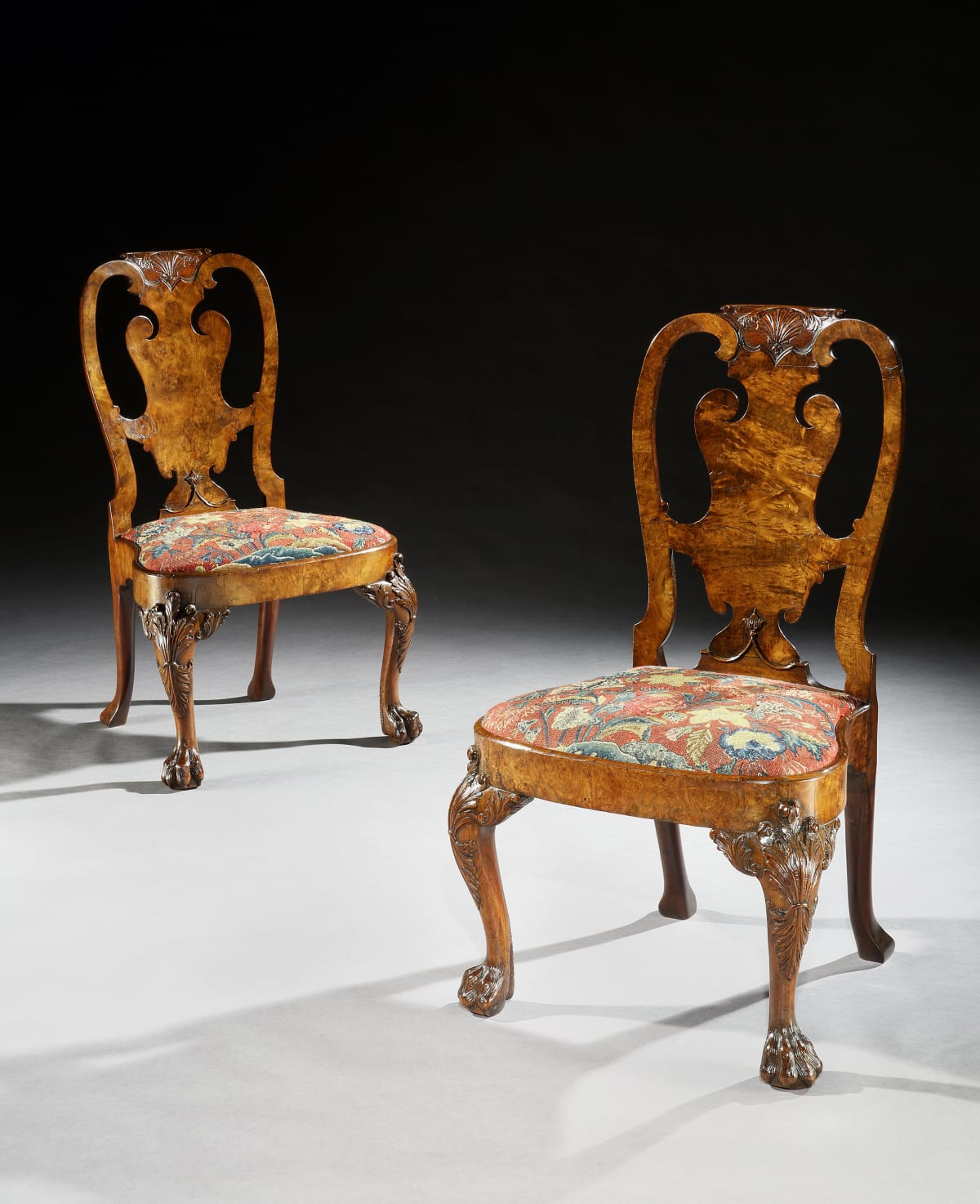 THE HEYDON HALL CHAIRS. ATTRIBUTED TO GILES GRENDY, English, circa 1740