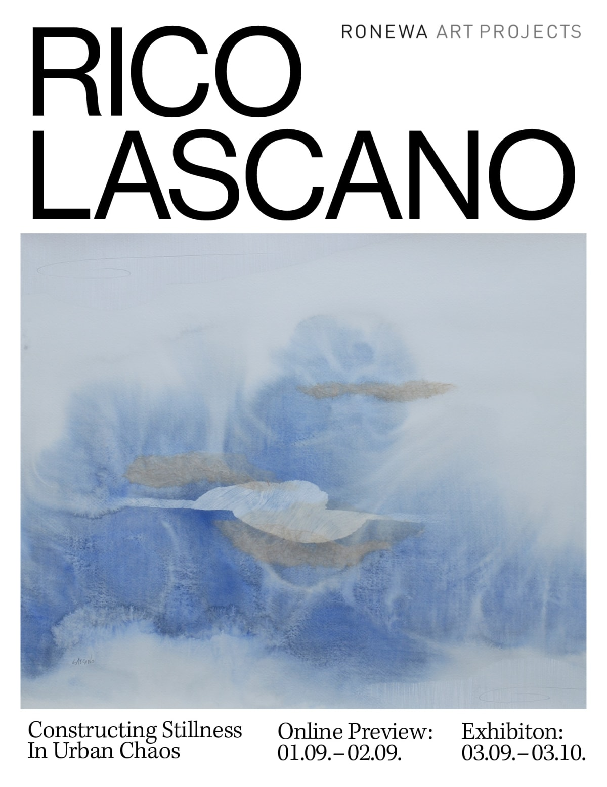 Rico Lascano online exhibition flyer ronewa art projects