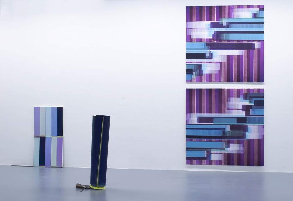 Elisabeth Sonneck, 2019, oil on canvas, 2x 60 x 60 cm & 2x 145 x 145 cm; oil on paper, 110 x 500 cm
