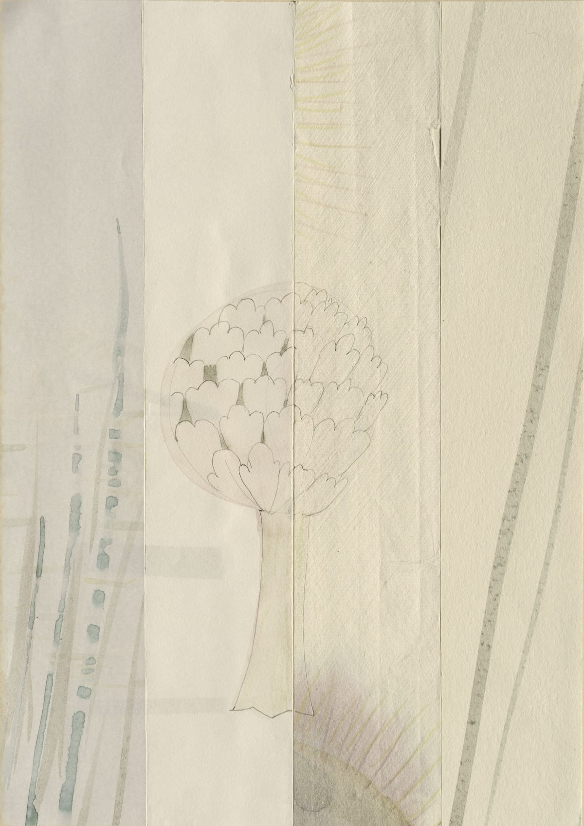 Mireille Gros, Seasons: Fictional Plant Diversity, 2020, watercolour and pencil on paper