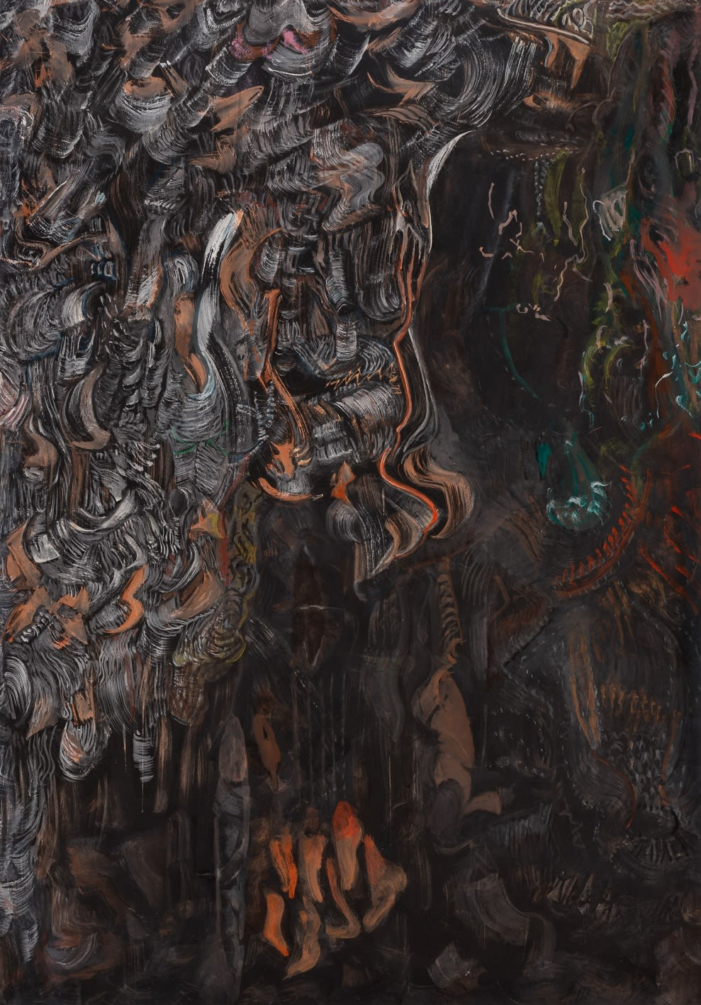Mark Tobey Surrealist Vision, 1962 tempera sobre papel 100 x 70 cm