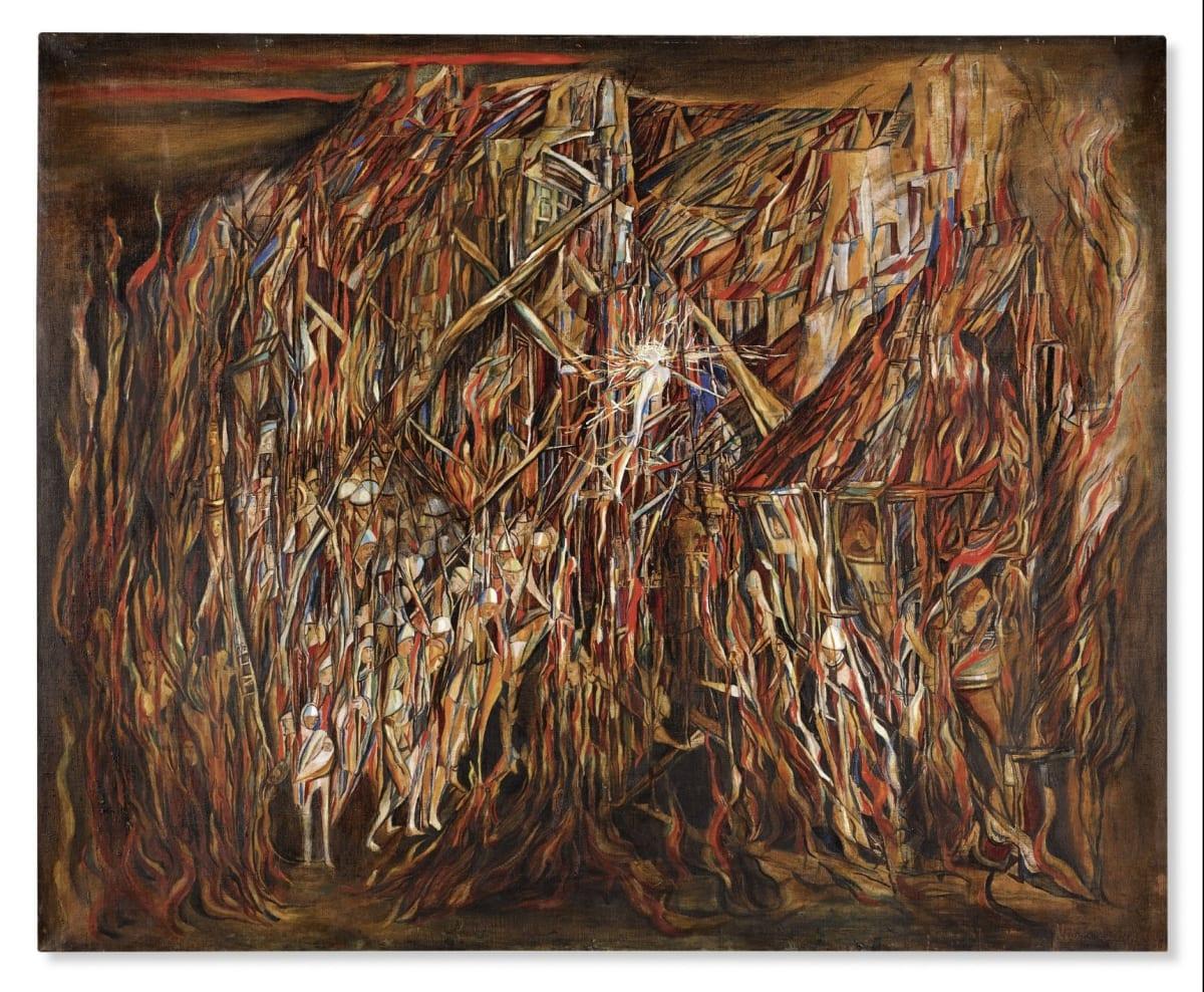L'Incendie II, de Vieira da Silva, arrematada em leilão por quase dois milhões de euros, Obra de 1944 foi a...