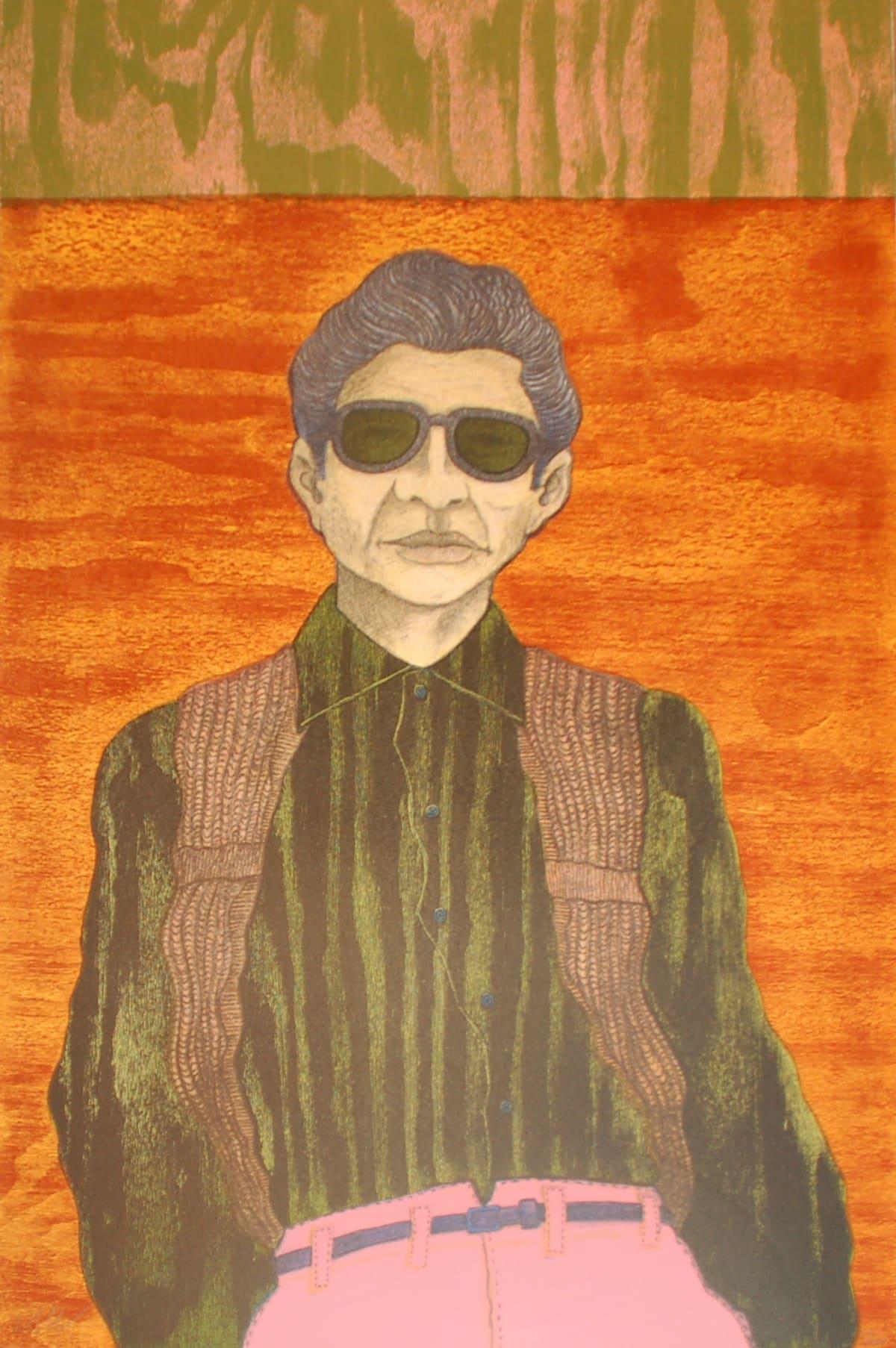 "César A. Martínez, Pantalon Rosa Printed by Peter Webber of Austin, Texas, 1992, Lithograph, 35 x 23"""