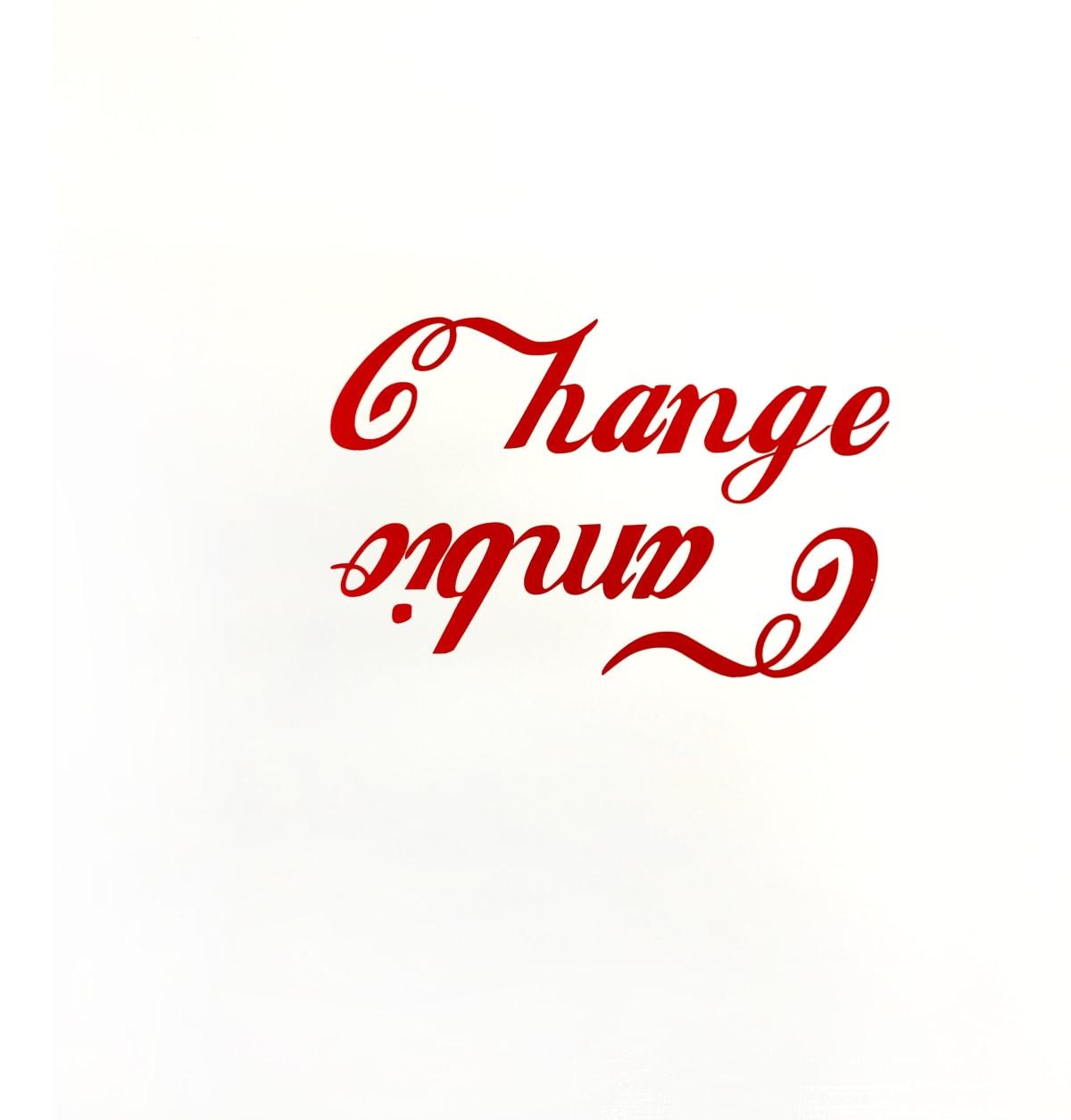 Artwork Image: Ethel Shipton, Change Cambio, 2020, House paint, vinyl on panel, 24 × 24 in 61 × 61 cm