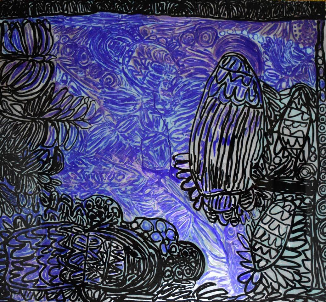 Sonia Kurarra Mattuwarra acrylic on polycarbonate 122 x 135 cm