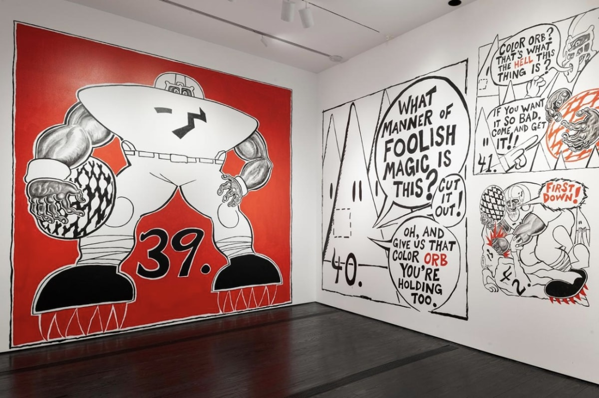 Trenton Doyle Hancock: Epidemic! Presents: Step and Screw! at the Menil Collection
