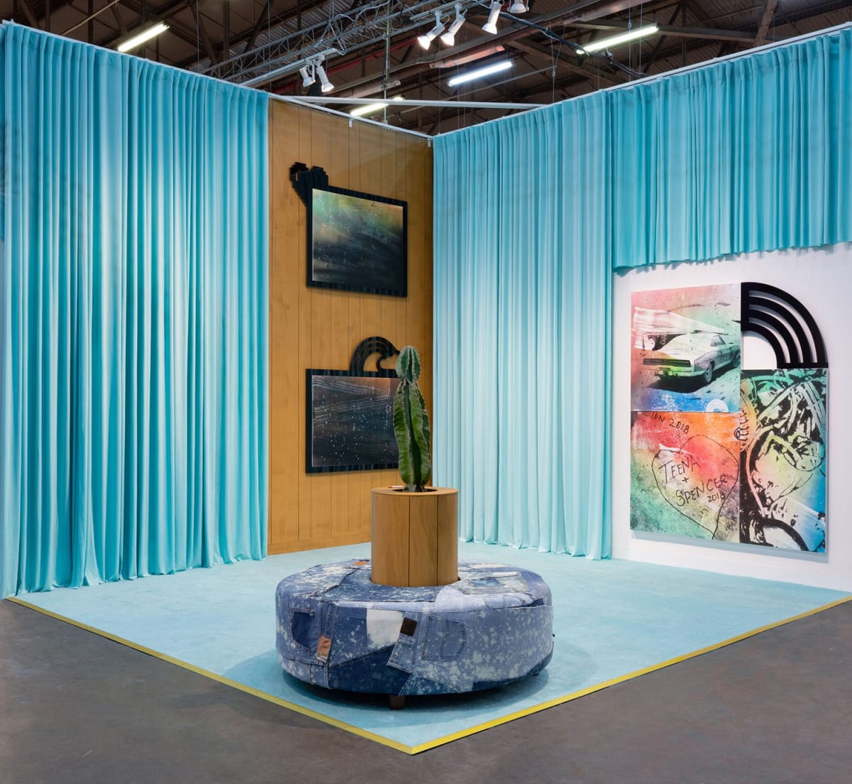 Wendy White. Seafoam (Convertible), 2020. Installation, The Armory Art Show 2020