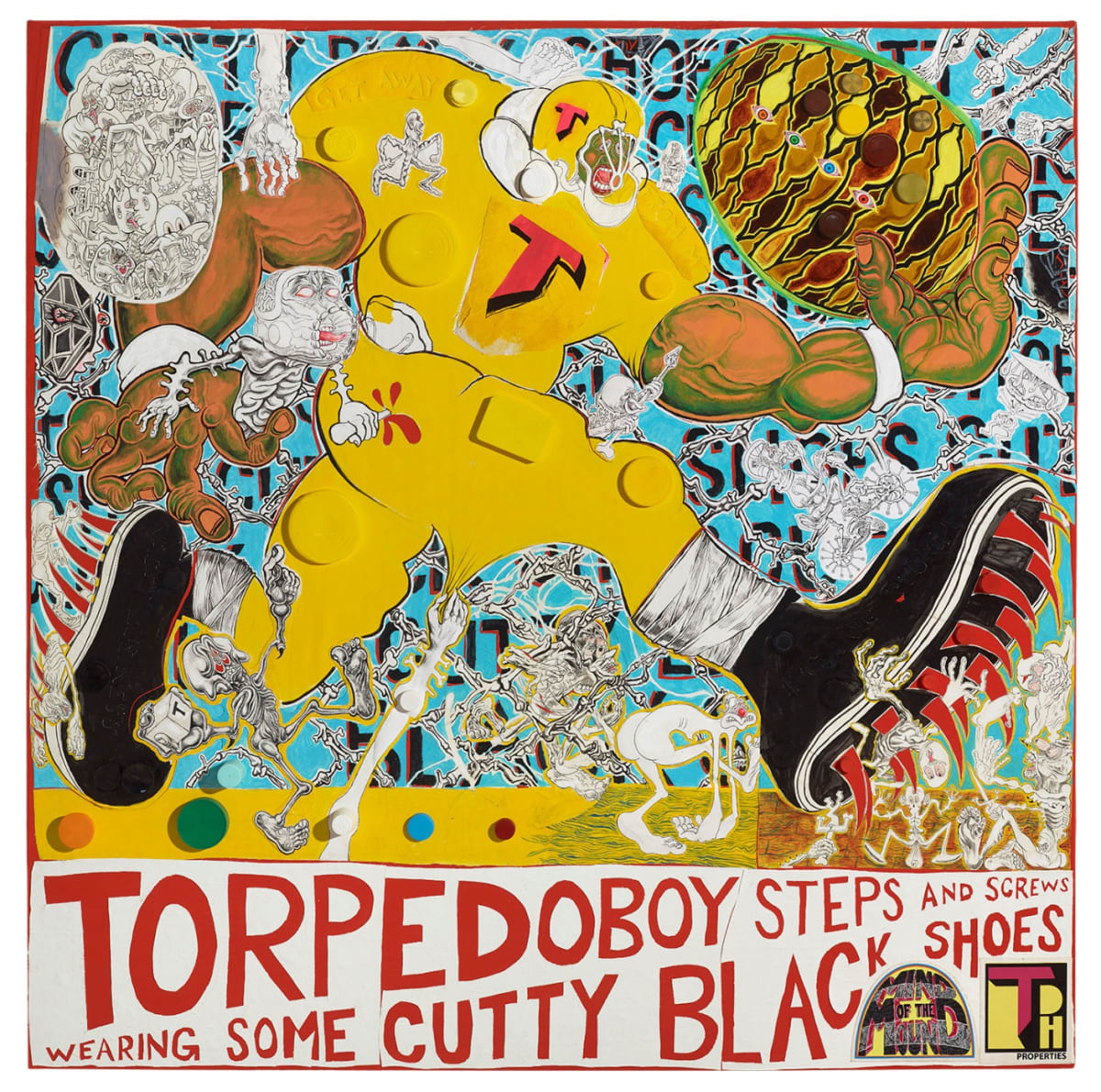 Trenton Doyle Hancock. Torpedoboy Steps and Screws Wearing Some Cutty Black Shoes, 2018