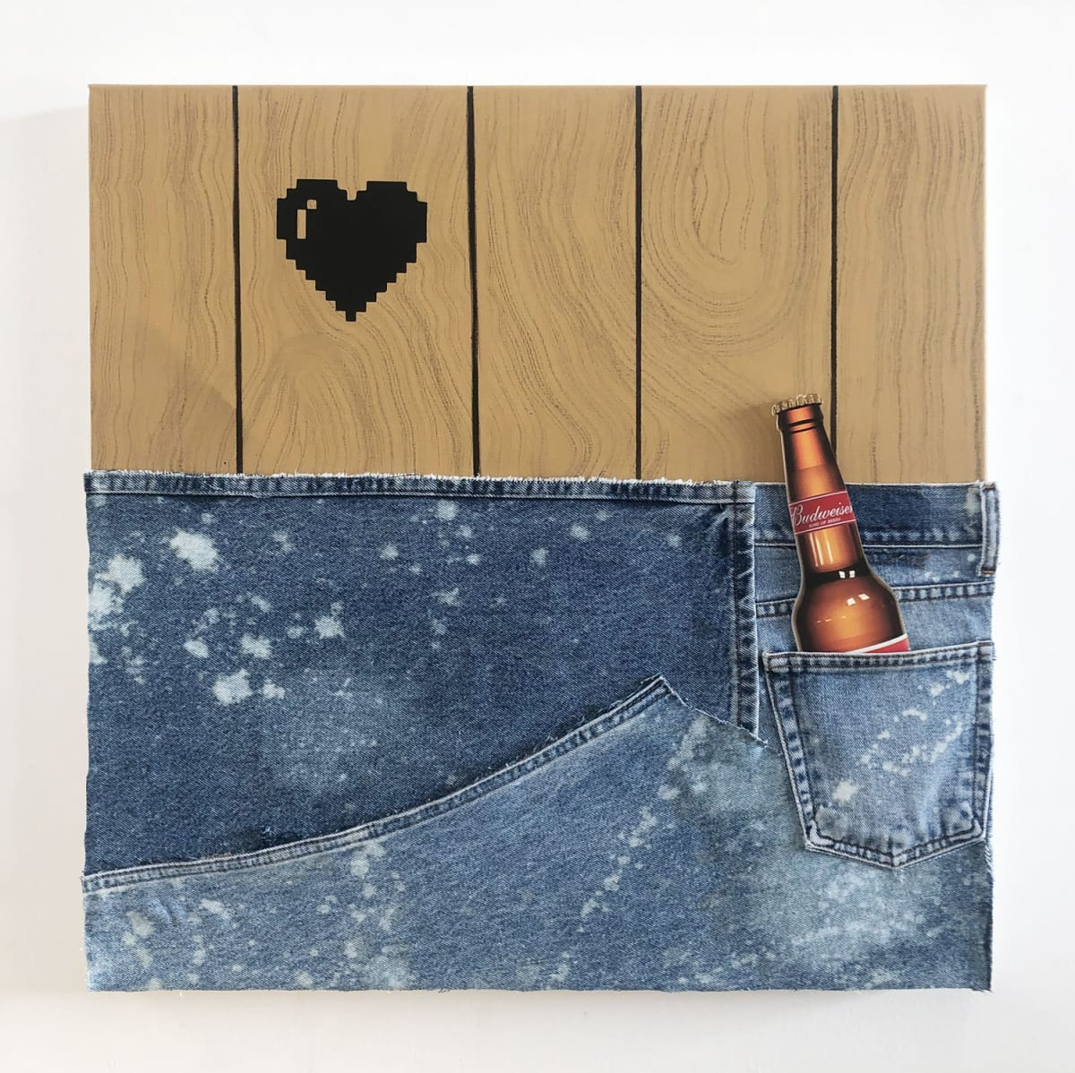 Wendy White. Jeans Panel (Budweiser), 2019