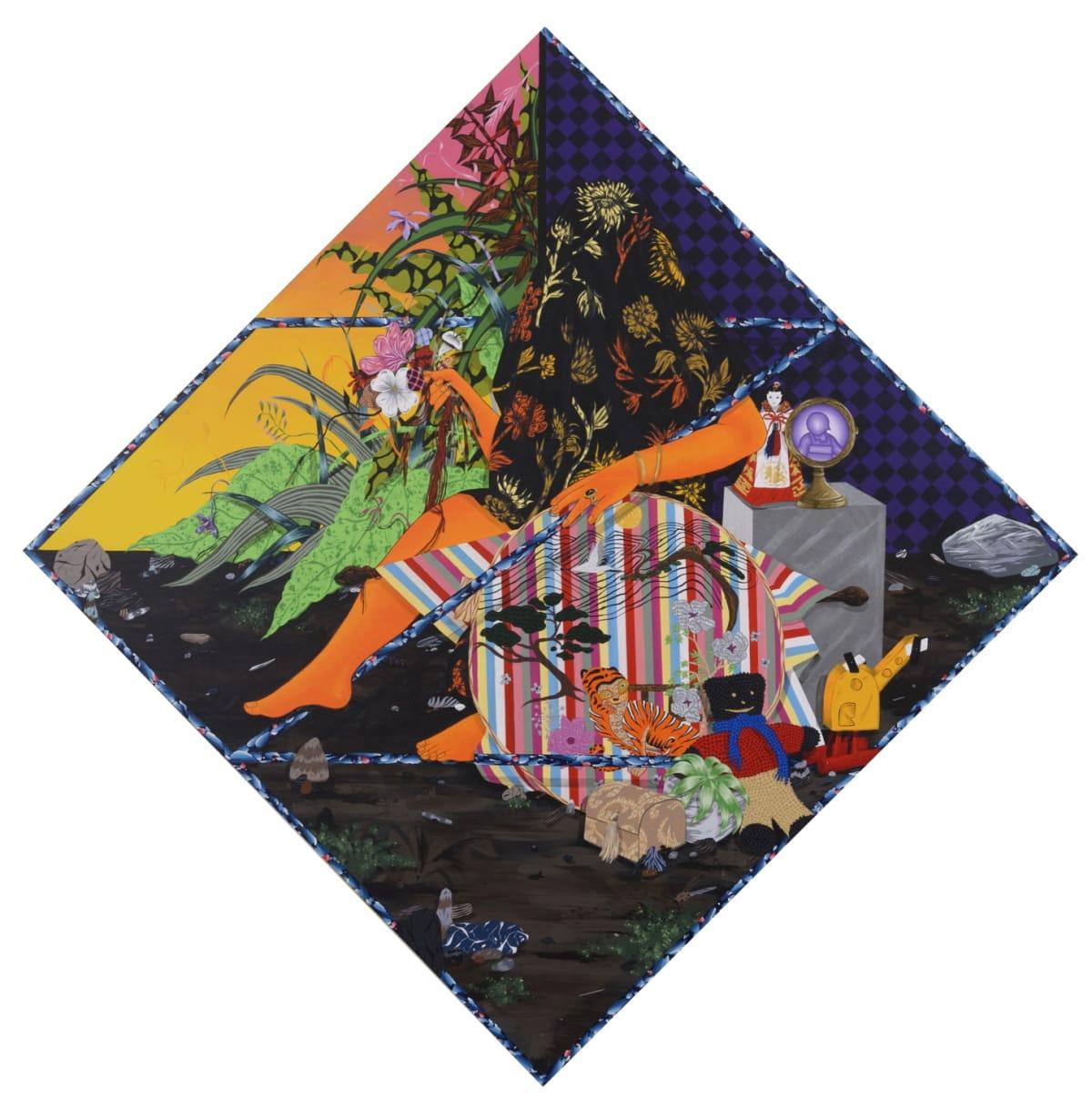 Amir H. Fallah. Split Between Faraway Lands, 2017
