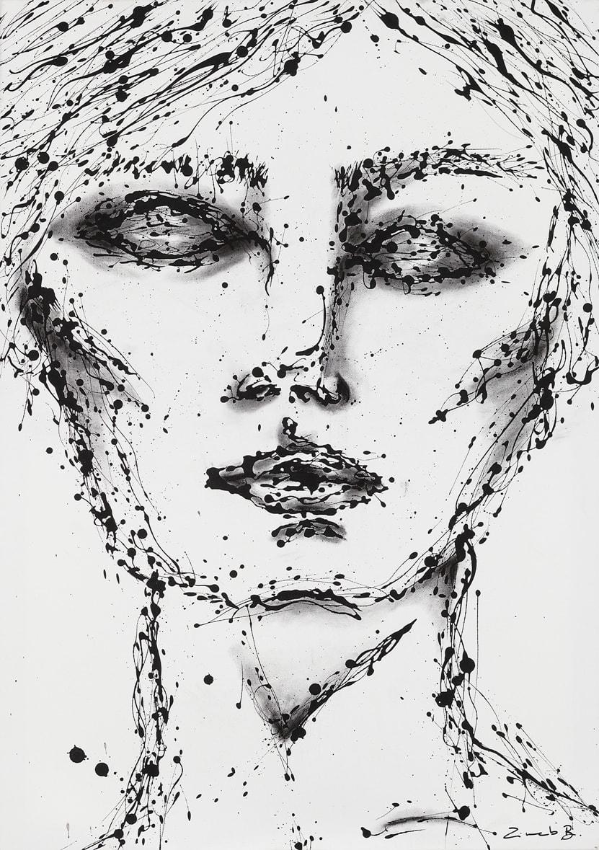 zineb bennis, Technique mixte sur toile, 2018