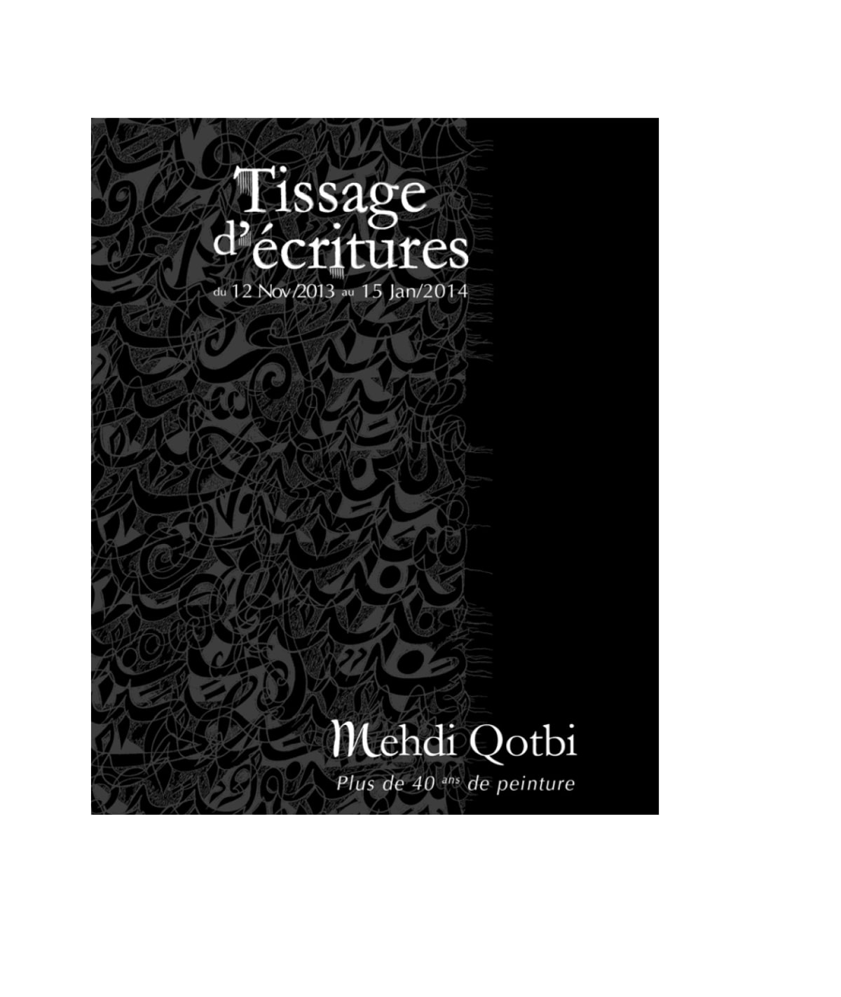 Catalogue Tissage d'écritures