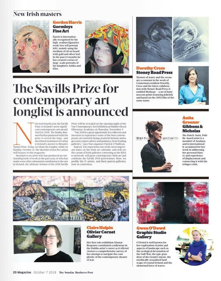 John Behan longlisted for Savills Prize