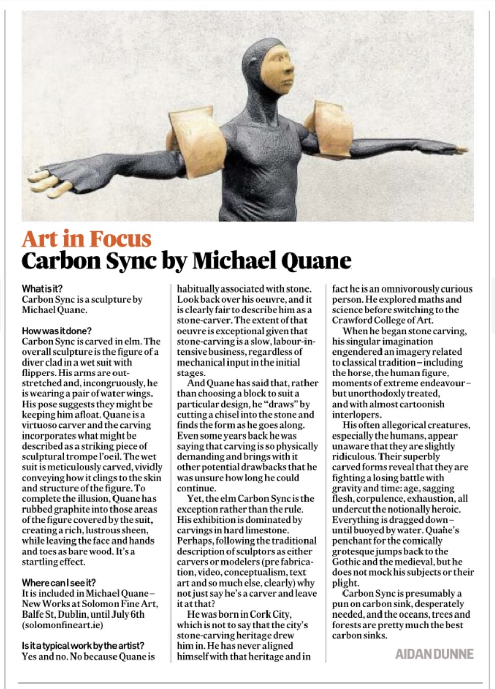 Irish Times: Art in Focus