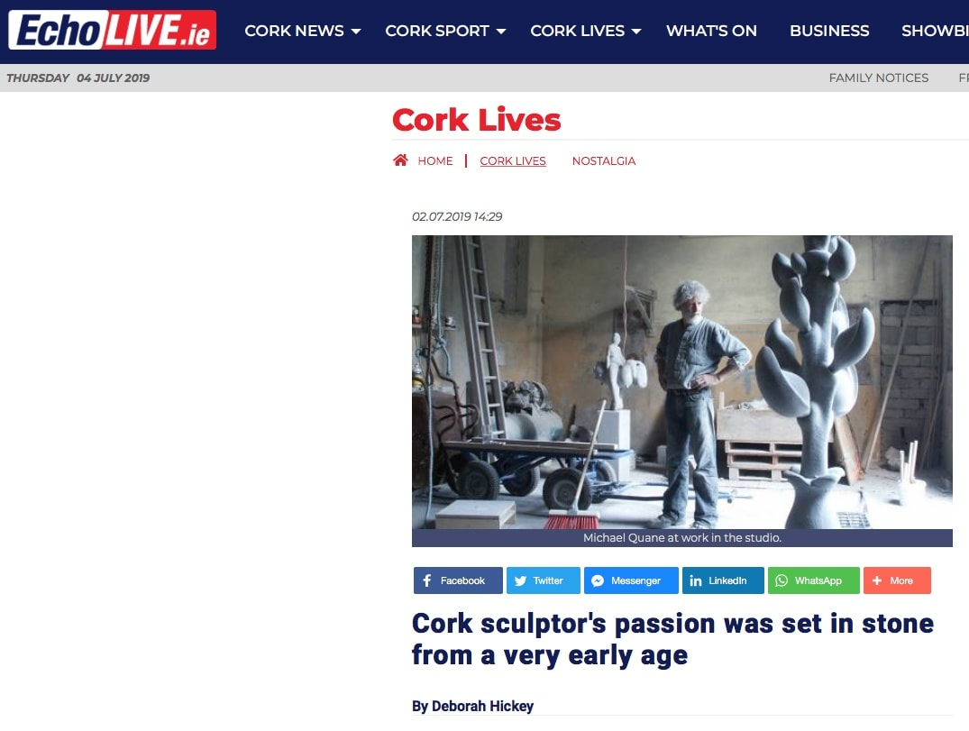 Cork sculptor's passion was set in stone from a very early age