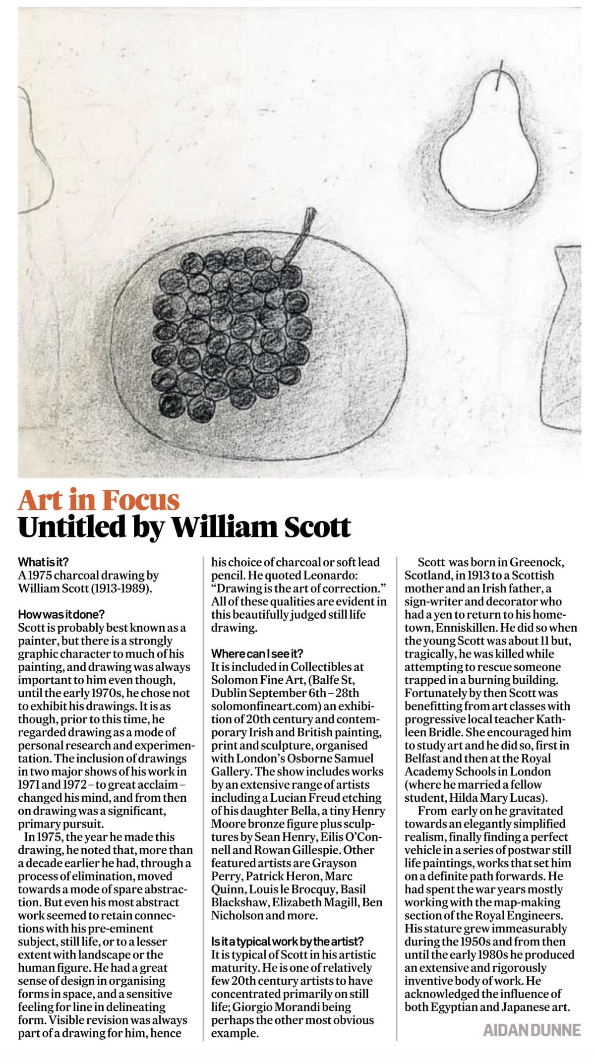 IRISH TIMES ART IN FOCUS: WILLIAM SCOTT