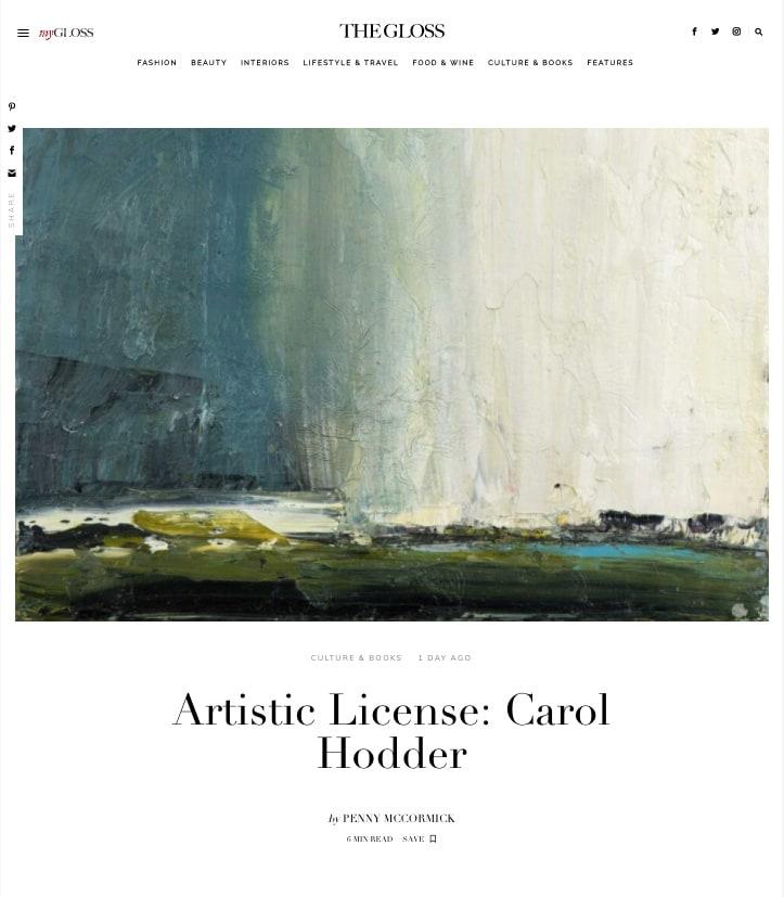 GLOSS MAGAZINE: Artistic License