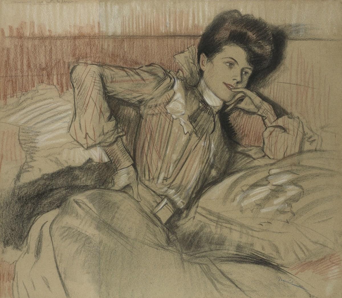 Pierre-Georges Jeanniot, Femme allongée