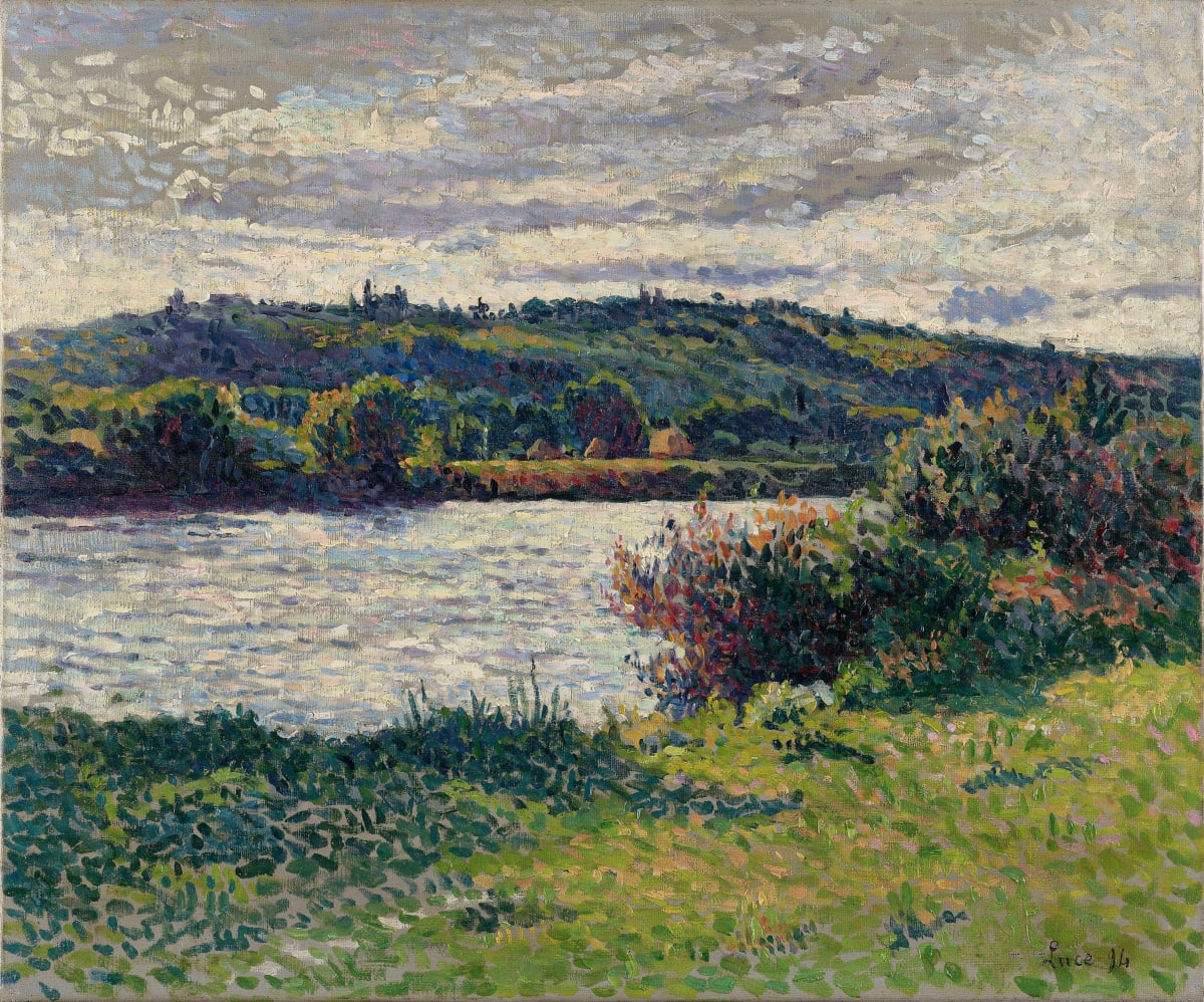Maximilien Luce La Seine aux Grésillons, 1890 Oil on canvas 38 x 46 cm 14 15/16 X 18 1/8 inches Signed and dated lower right 'Luce'