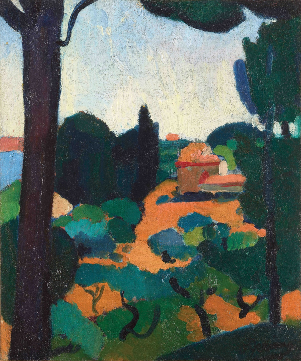 André Derain Paysage à Cassis, 1907 Oil on canvas 46 x 38.5 cm, 18 1/8 x 15 1/8 inches signed lower right