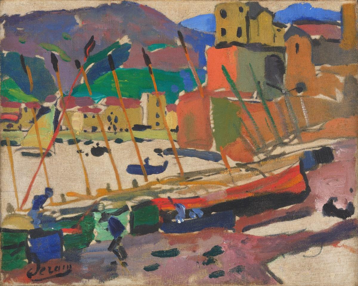 André Derain Le port de Collioure, 1905 Oil on canvas 33 x 40.6 cm 13 x 16 inches Signed lower left aderain