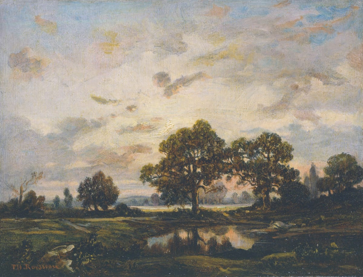 Theodore Rousseau, La mare à Dagnan sur le plateau de Bellecroix, 1855 - 1860